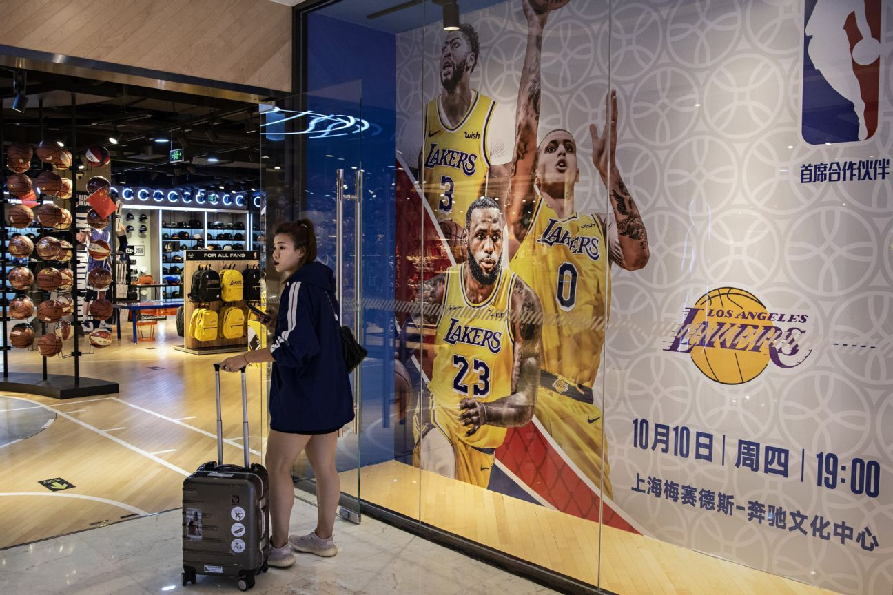 For NBA and other sports leagues, a difficult tightrope to business in China