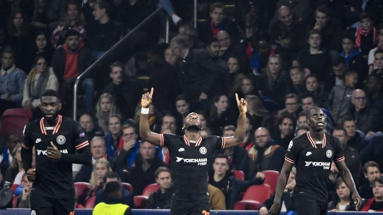 Batshuayi 8/10, Pulisic 7/10 as Chelsea edge Ajax to go top
