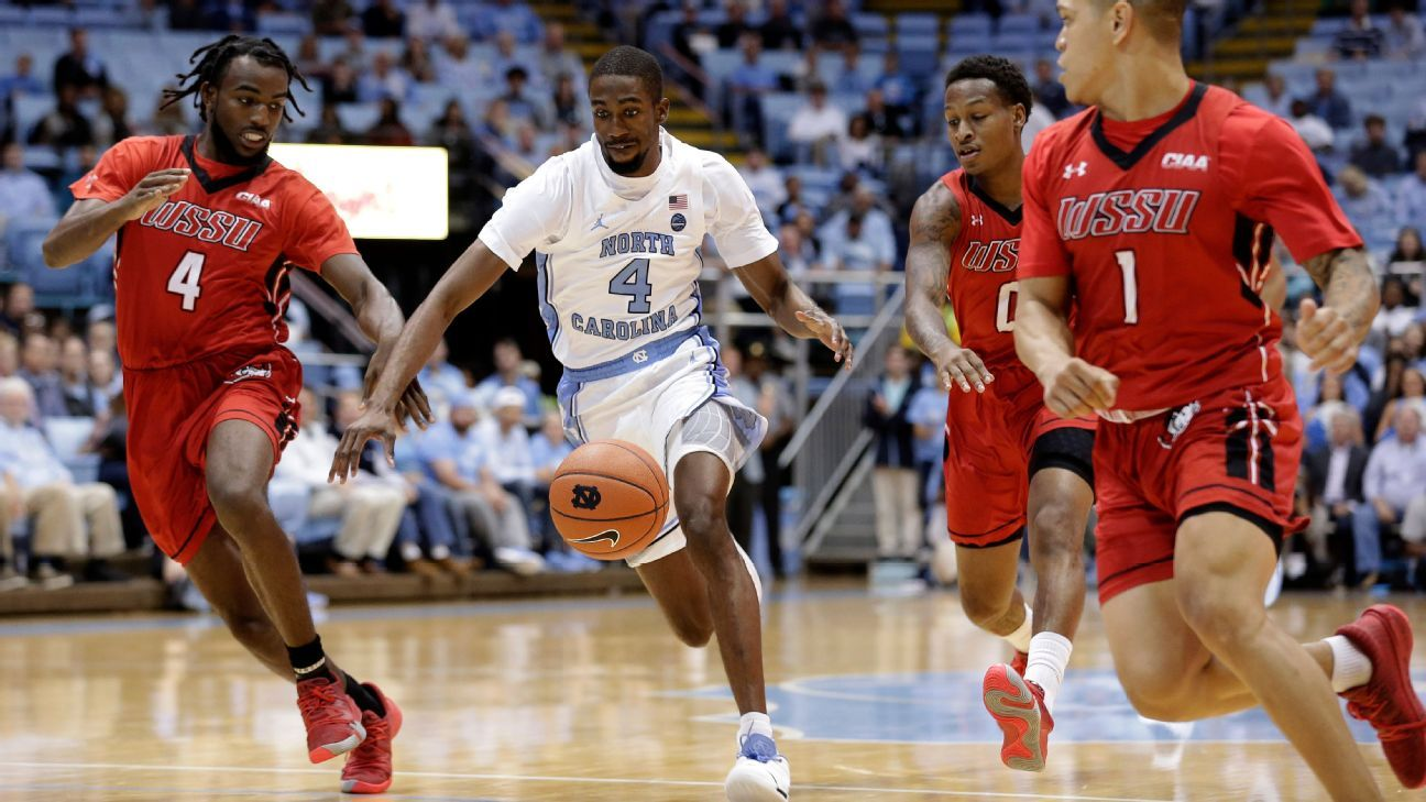 UNC guard Robinson sidelined by sprained ankle