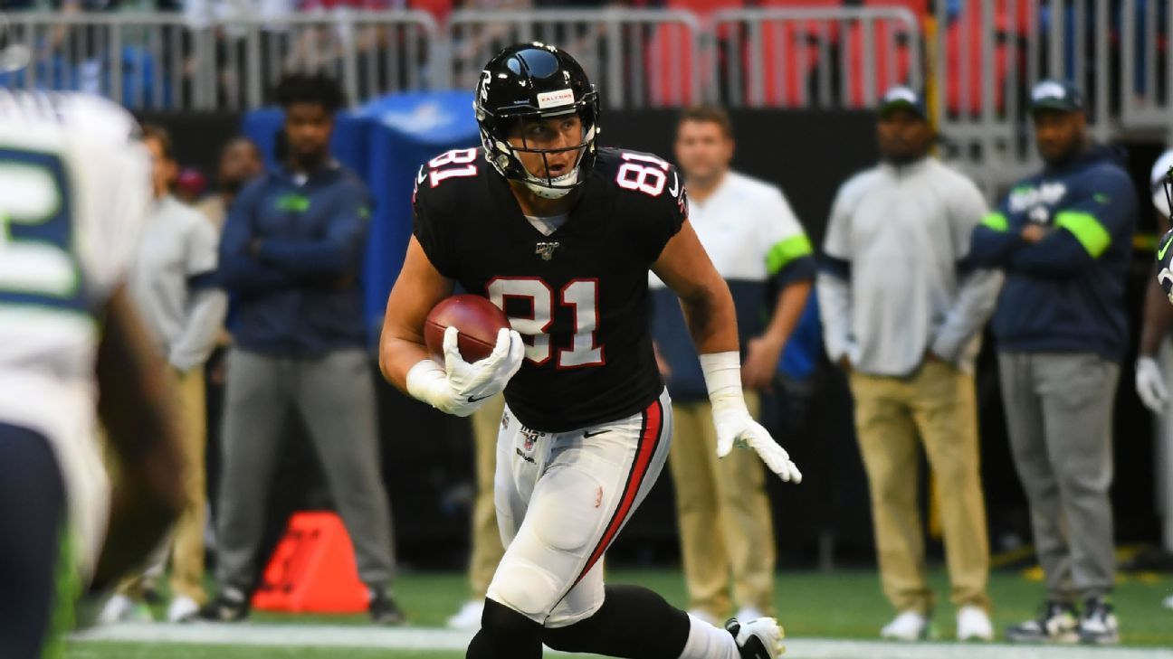 Source: Falcons TE Austin Hooper out with MCL sprain