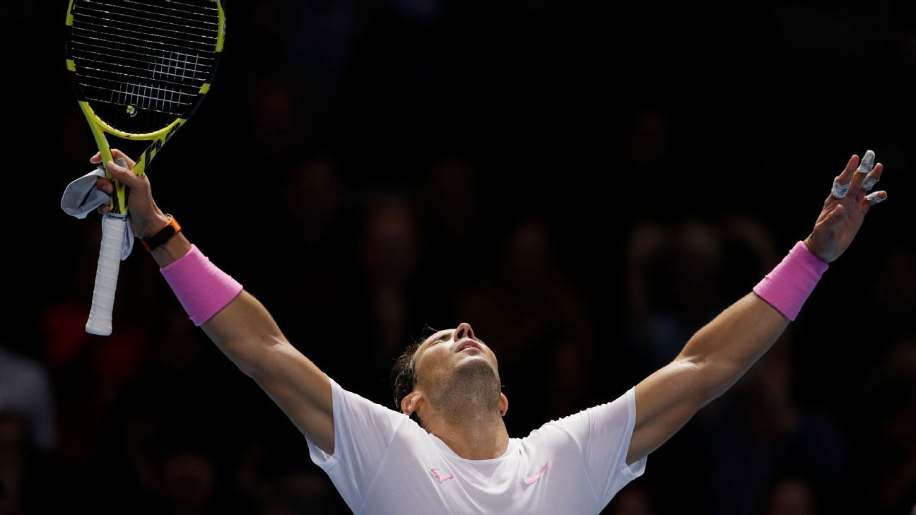 Rafael Nadal saves match point against Daniil Medvedev for 1st win at ATP Finals