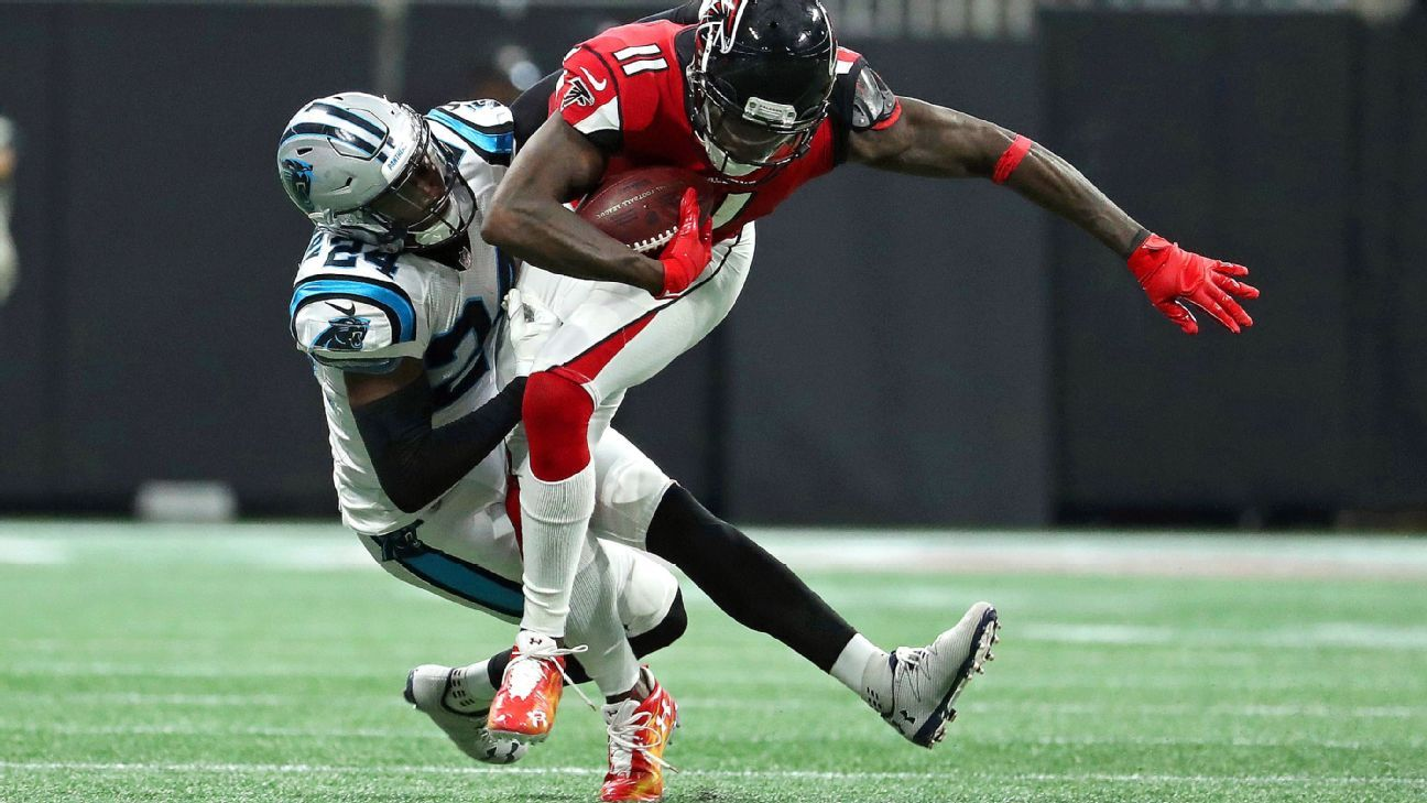 Success against Julio Jones could pay off for Panthers' James Bradberry
