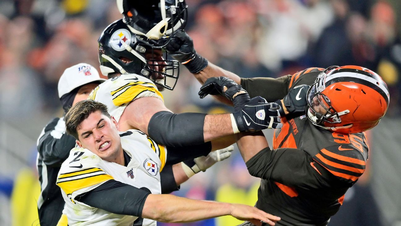 Pittsburgh Steelers' Mason Rudolph hasn't heard from Cleveland Browns' Myles Garrett open to chat – ESPN
