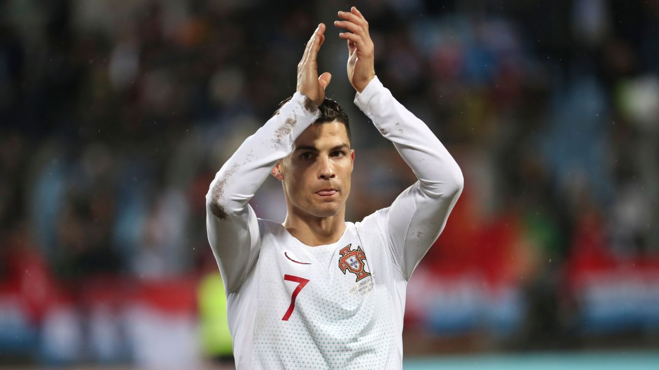 Cristiano Ronaldo on 99 goals as Portugal edge past Luxembourg to qualify for Euro 2020