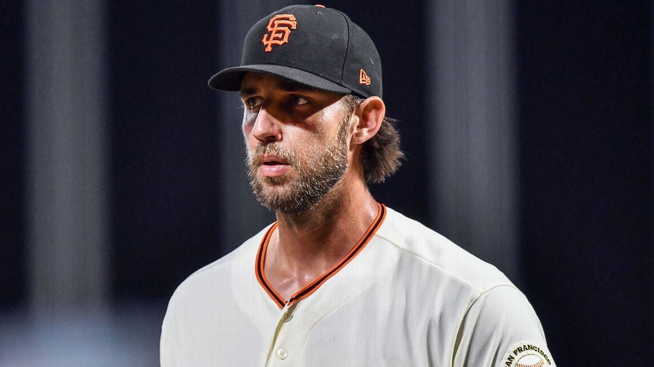 Giants seek pitching, but few signs Madison Bumgarner returning