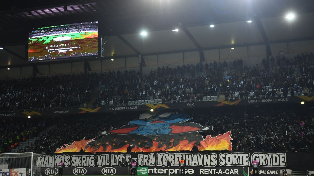 Copehagen fined €70K for 'burning Smurf' tifo in Europa League match