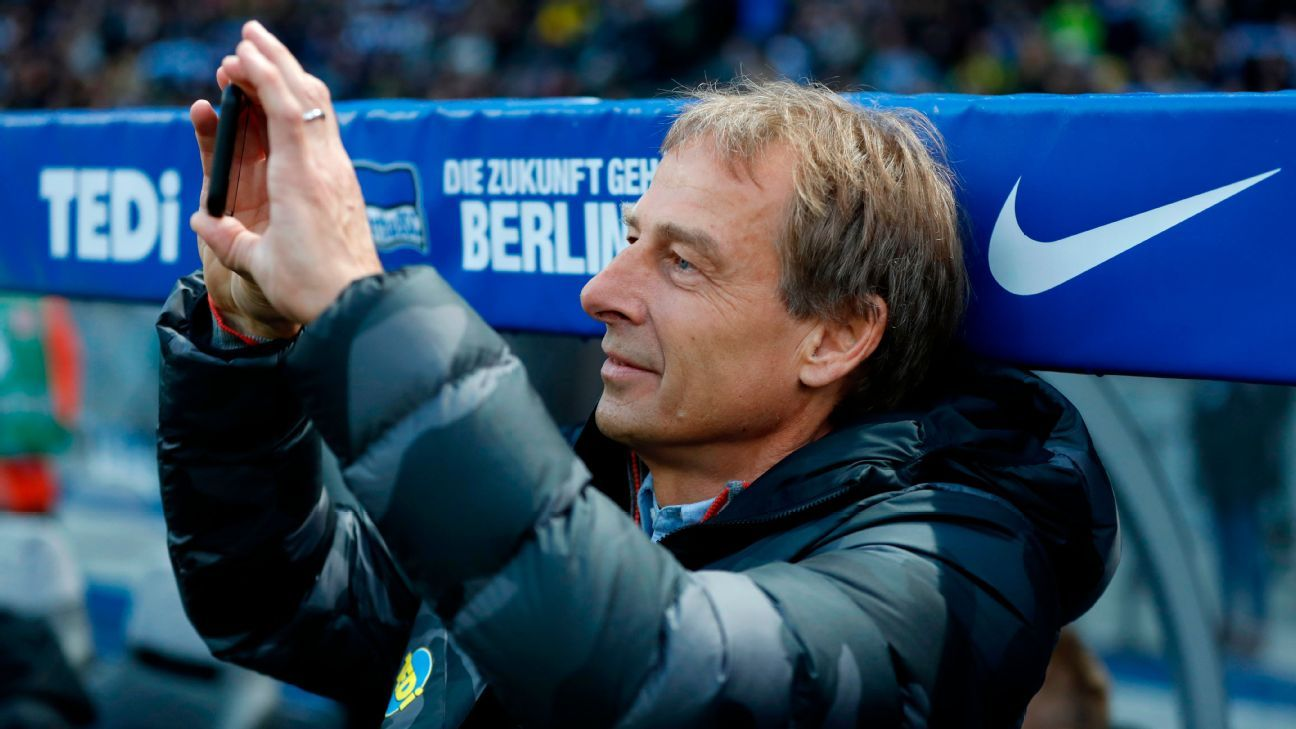 Hertha Berlin coach Klinsmann licence renewed for Bayern clash - ESPN