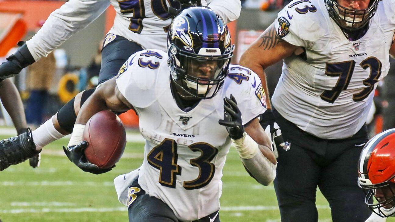 Baltimore Ravens lose RB Justice Hill to season-ending injury