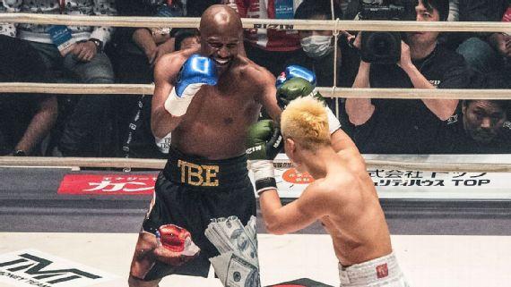Floyd Mayweather vs  Tenshin Nasukawa in photos