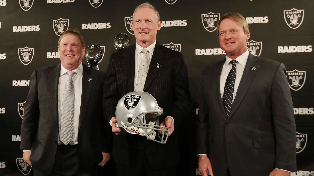 New Raiders general manager Mike Mayock says coach Jon Gruden makes the final call on roster decisions.
