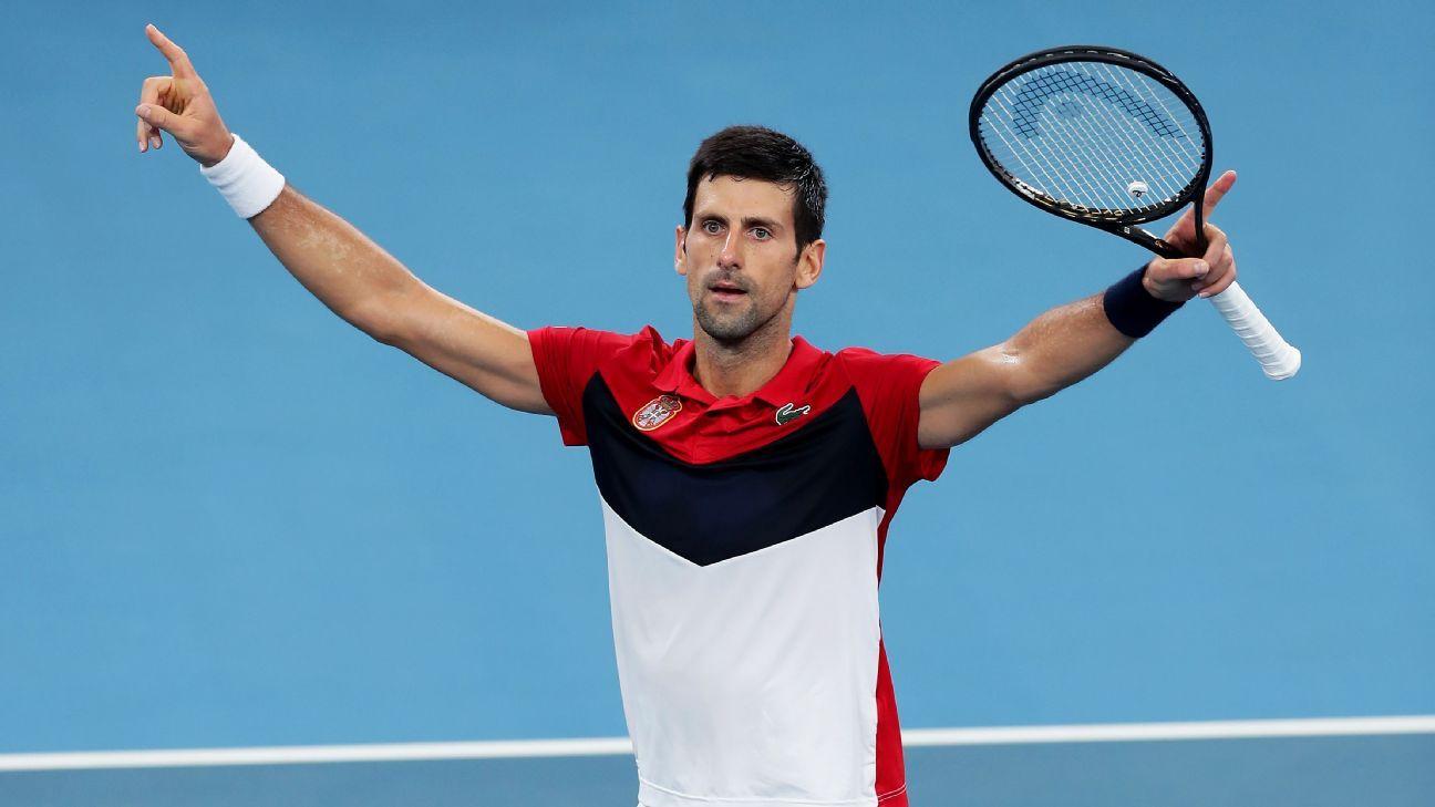 Djokovic pilots Serbia into ATP Cup final