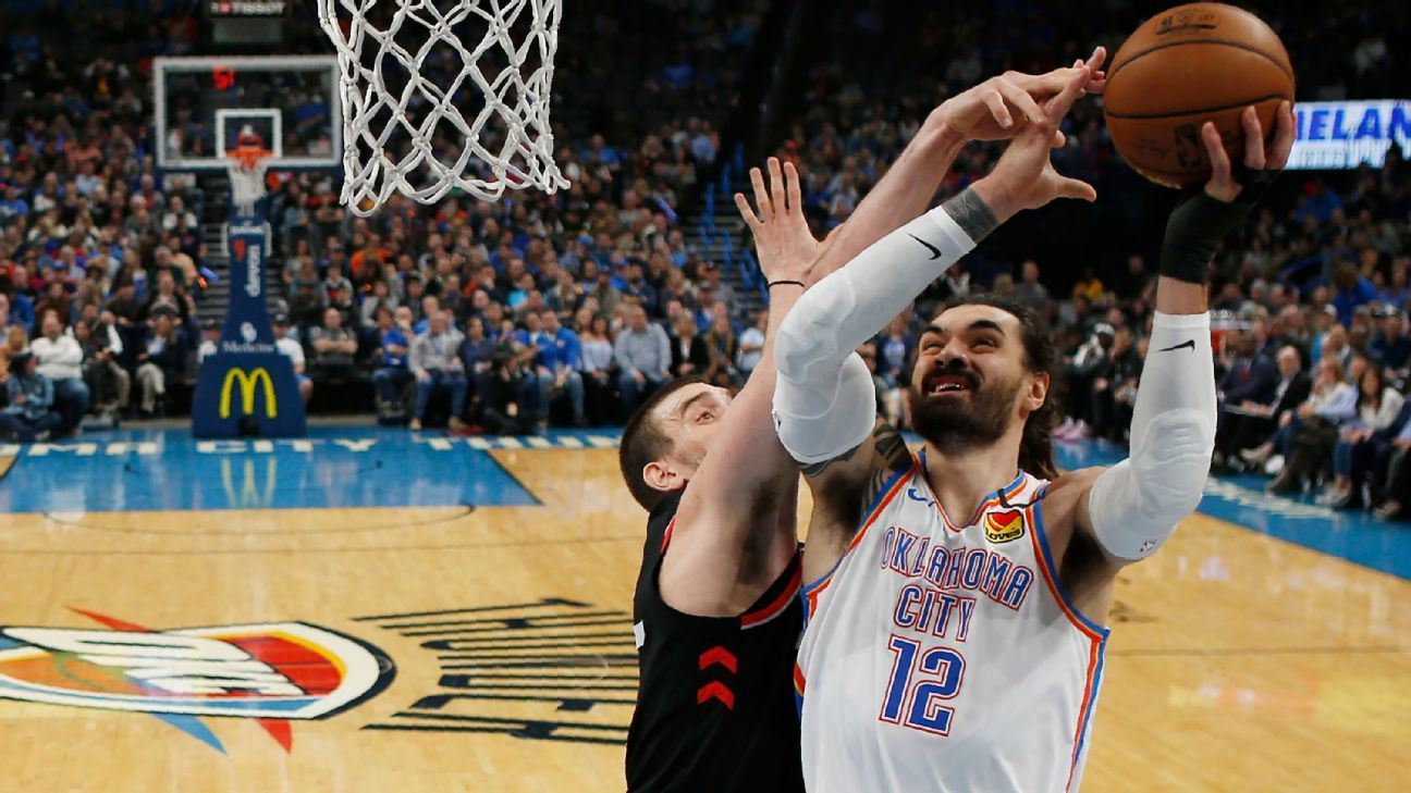 Thunder center Steven Adams out vs. Heat with bruised knee