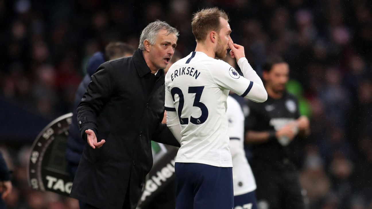 Tottenham Hotspur's Jose Mourinho says don't blame club on Christian Eriksen transfer drama - ESPN