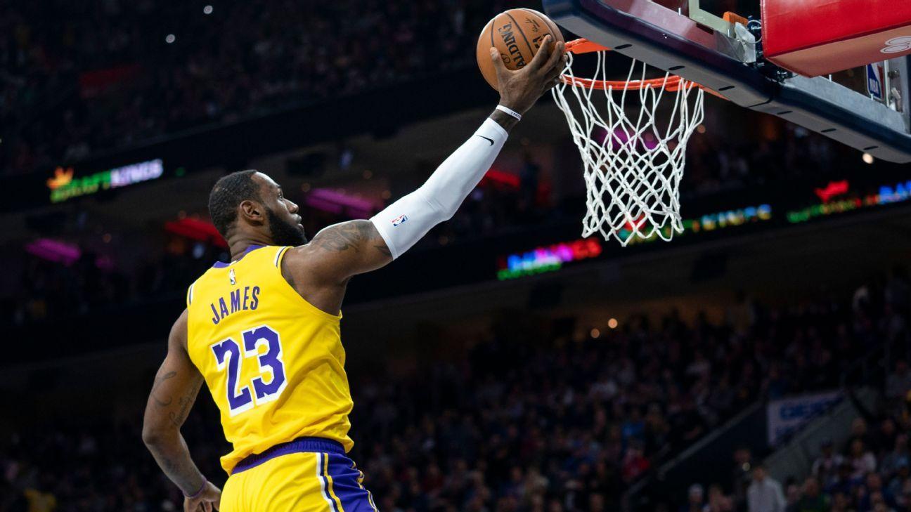 LeBron James surpasses Kobe Bryant for third on all-time scoring list
