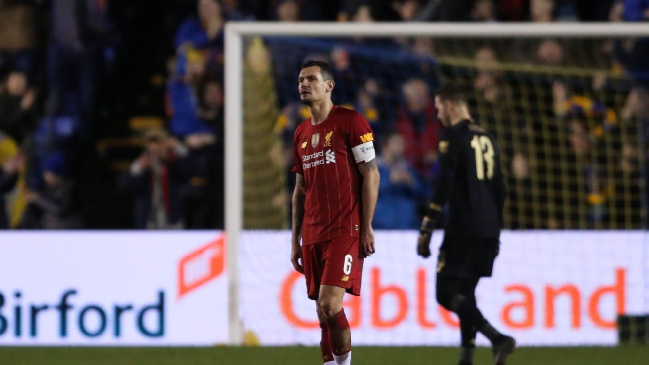 Jones 7/10, Lovren 4/10 as Liverpool draw with third-tier Shrewsbury Town - ESPN