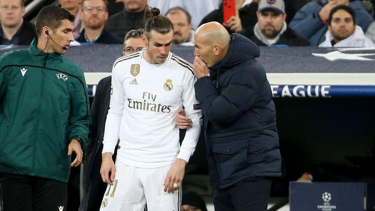 Real Madrid boss Zidane dismisses Bale agent's training claim - ESPN