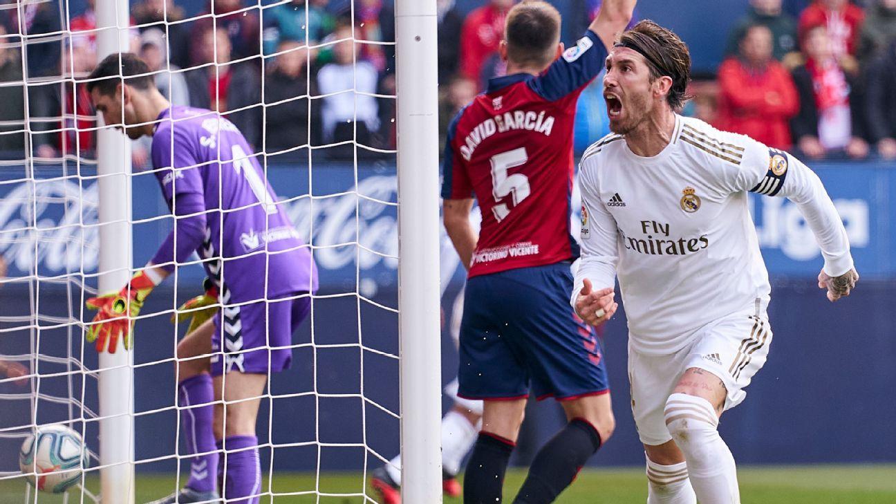Ramos and Casemiro 8/10s help Real Madrid back against Osasuna