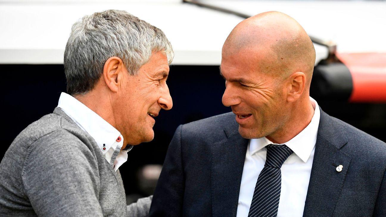 Zidane vs. Setien will determine who wins La Liga
