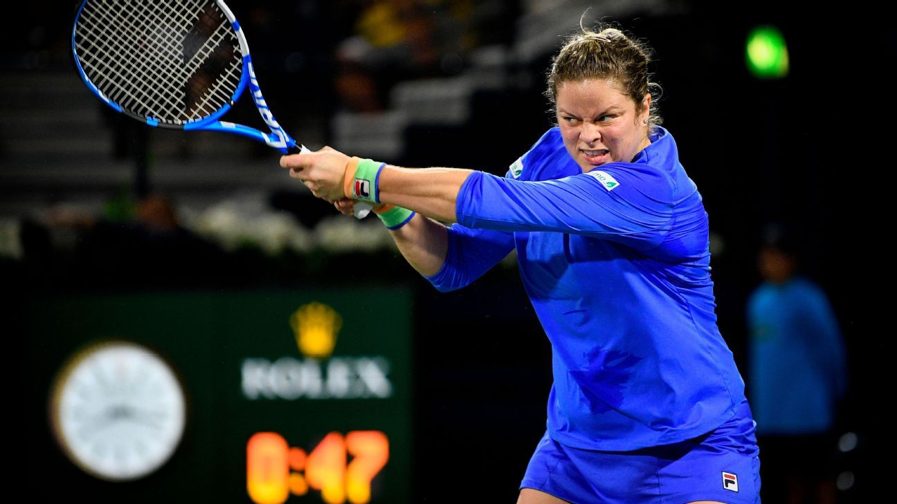 Clijsters' comeback ended by Muguruza in Dubai
