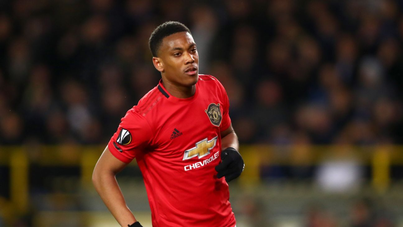 Martial 7/10 as Man United draw, get crucial away goal at Brugge