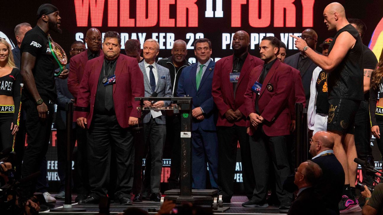 Wilder (231 pounds) heaviest of career; Fury 273