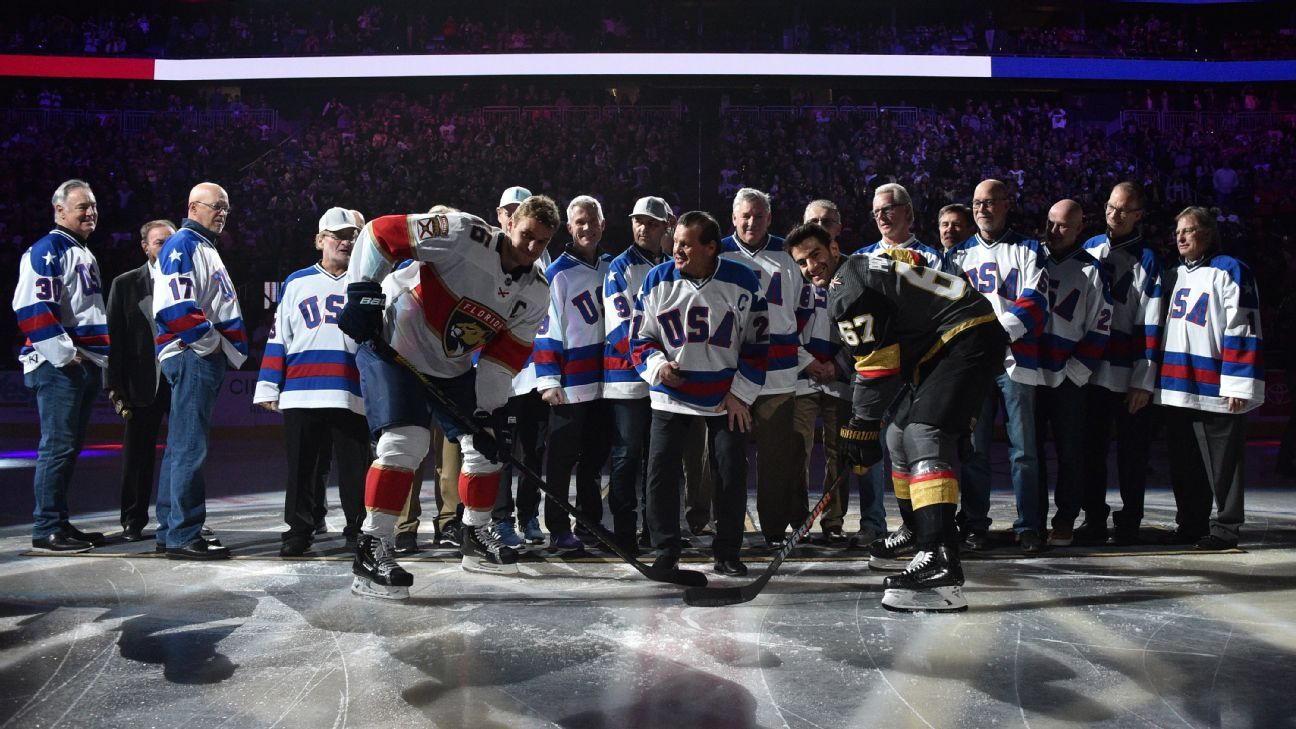 'Miracle on Ice' team saluted before Vegas game
