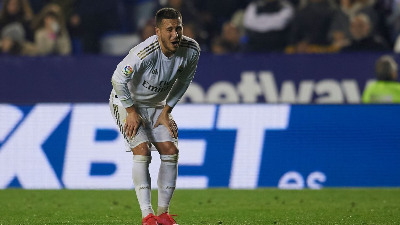Real Madrid's Hazard to miss City Barcelona clashes with fibula fracture - ESPN
