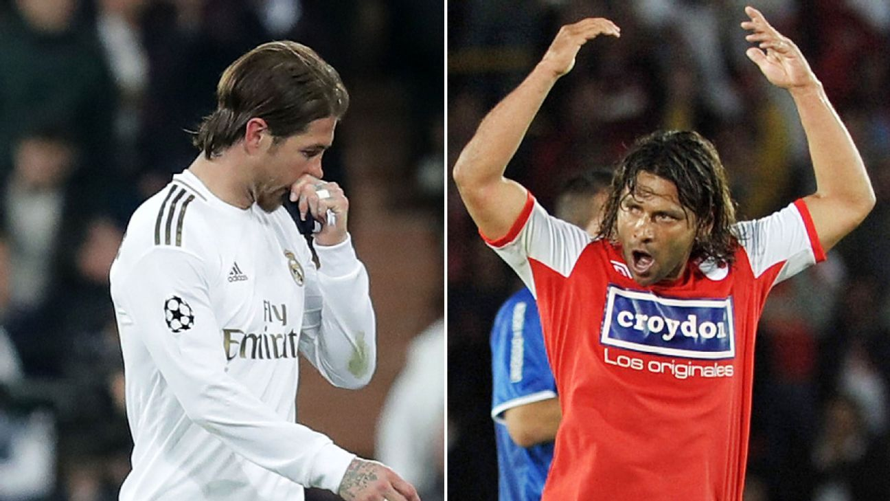 Ramos' 26 red cards not even close to all-time record held by 'The Beast'