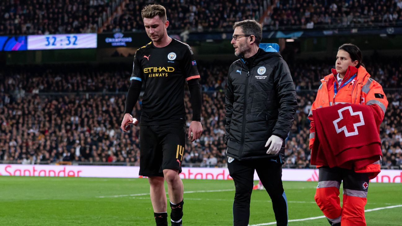 Man City blow as Laporte to miss Real Madrid and United clashes - ESPN