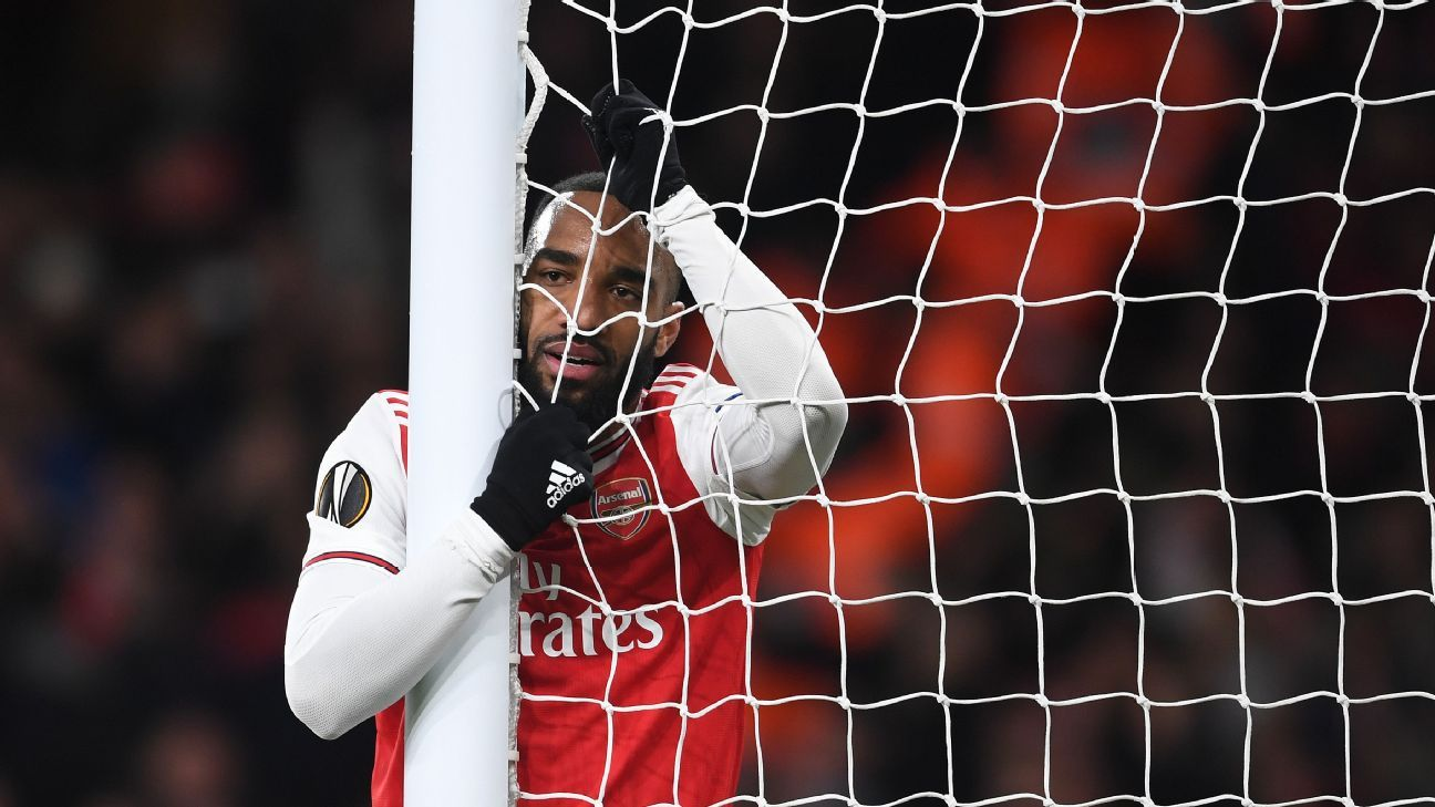 Lacazette 3 out of 10, Luiz 5 out of 10 as Arsenal crash out of the Europa League - ESPN