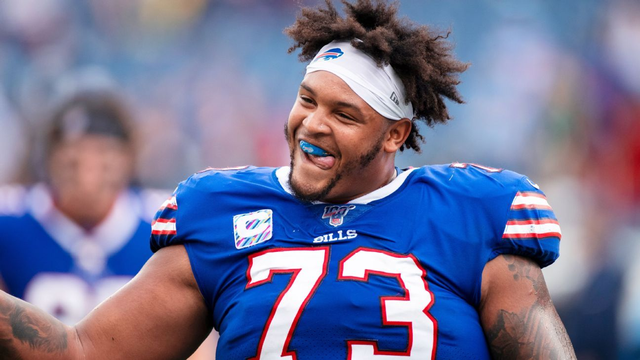 Bills O-lineman Dion Dawkins is Buffalo's big, fun adopted son