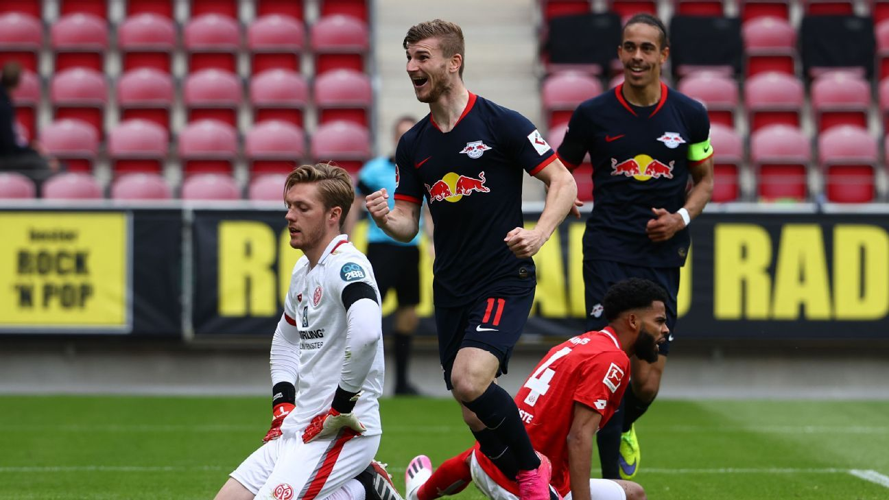 Werner, RB Leipzig put on a show, Bundesliga leaders Bayern stay clear on top but Dortmund stay in touch - ESPN