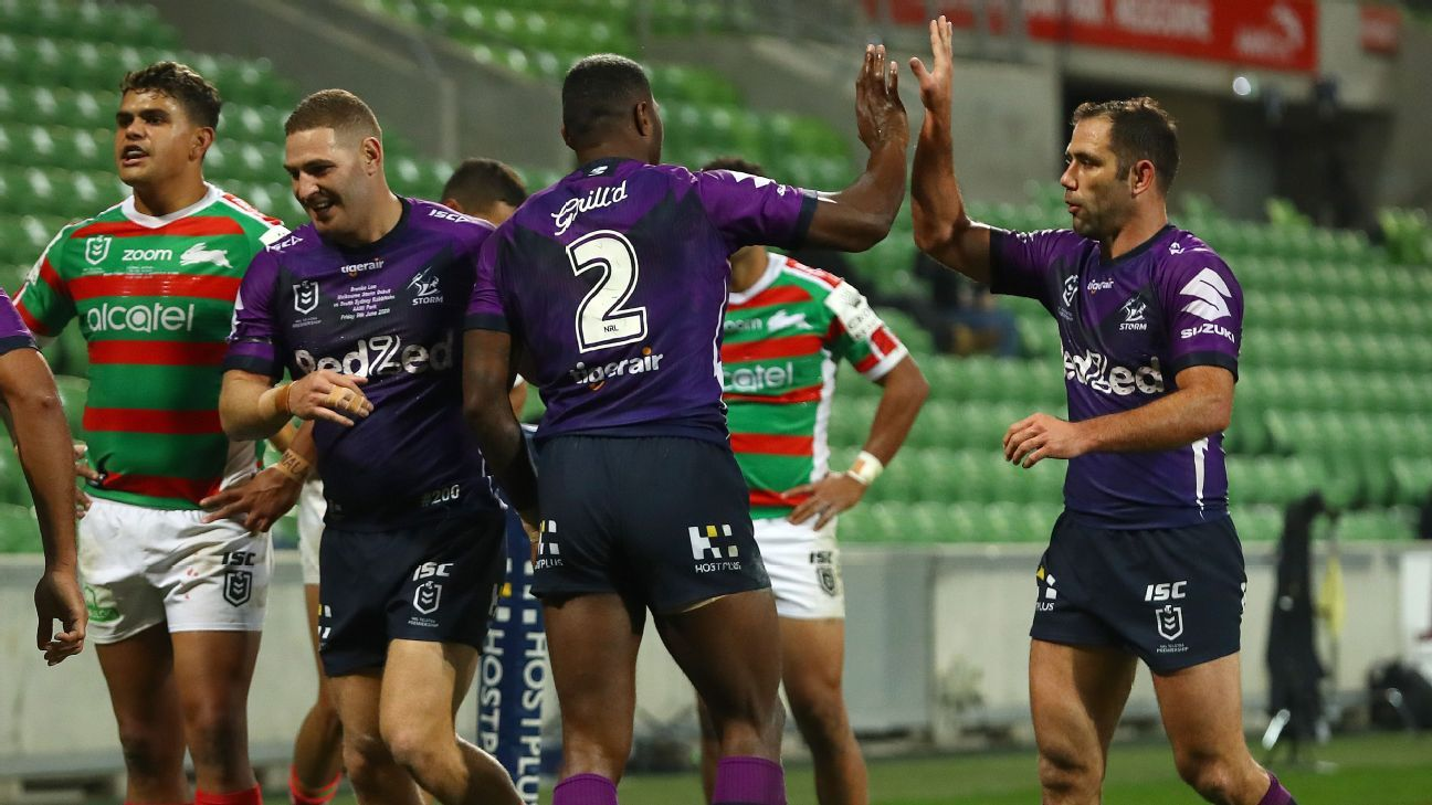 Nrl Melbourne Storm Surge Late To Down South Sydney Rabbitohs