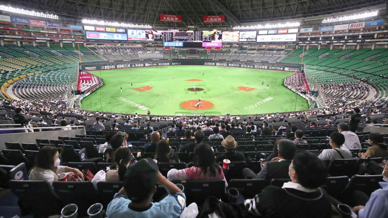 Baseball fans allowed back in stadiums in Japan