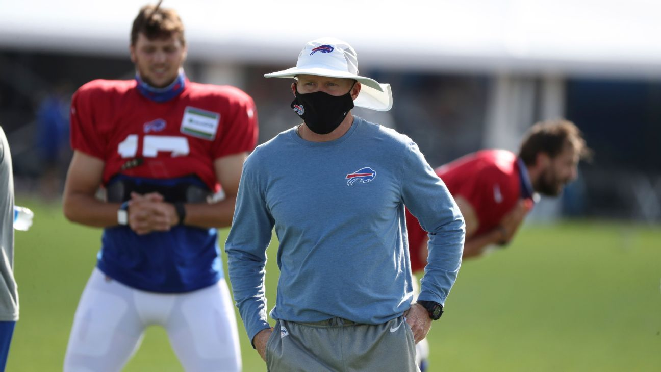 Buffalo Bills coach Sean McDermott 'concerned' about impact of vaccine status