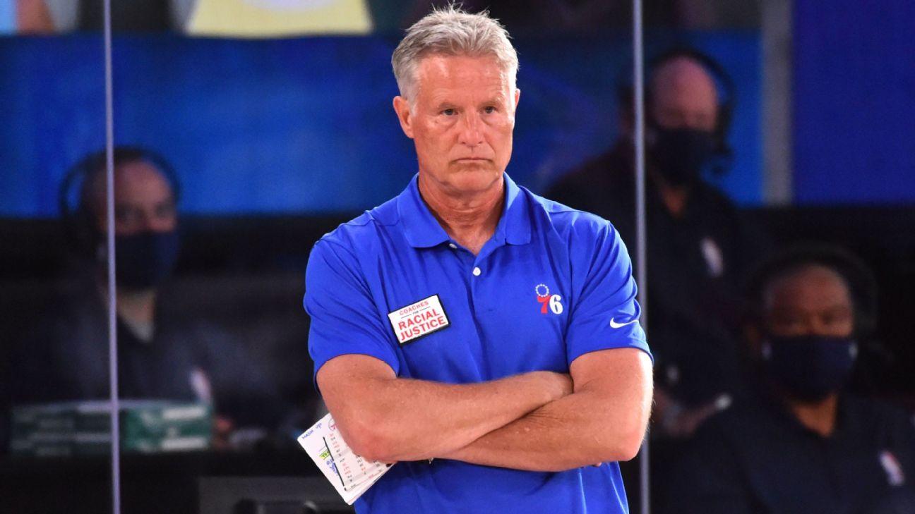 Philadelphia 76ers fire coach Brett Brown after seven seasons – ESPN