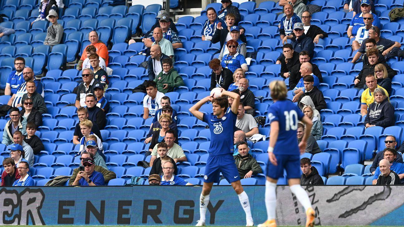El Brighton vs. Chelsea, primero con afición en Inglaterra tras la pandemia