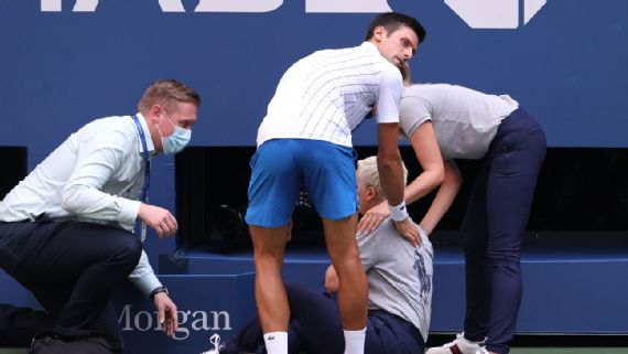 Novak Djokovic Out Of Us Open After Hitting Line Judge With Tennis Ball