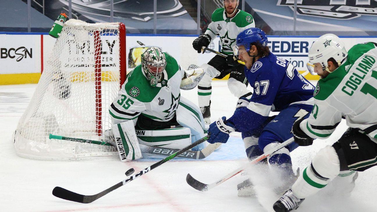 Anton Khudobin helps Dallas Stars beat Tampa Bay Lightning in Game 1 of Stanley Cup Final – ESPN