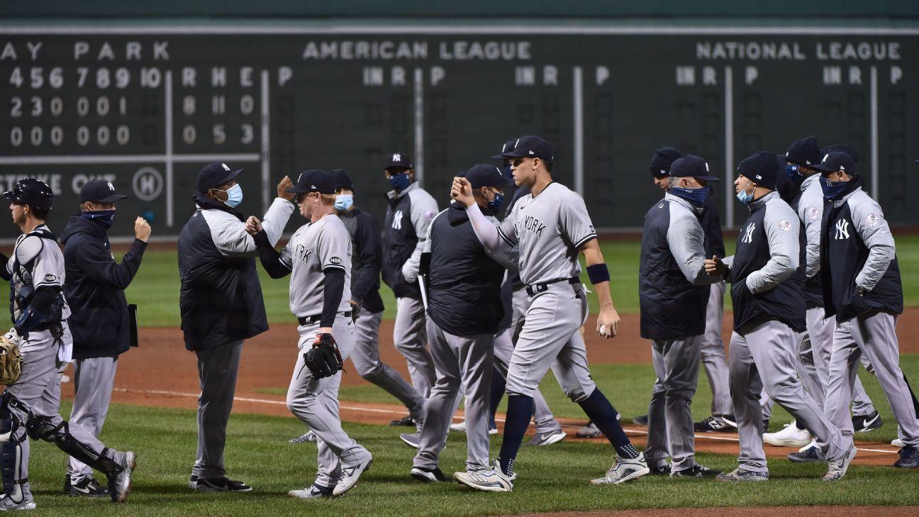 Yanks win 12th straight vs. Red Sox, tying record