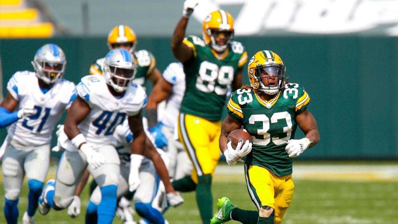 Aaron Jones Races 75 Yards For Td In Packers Longest Run Since 2004