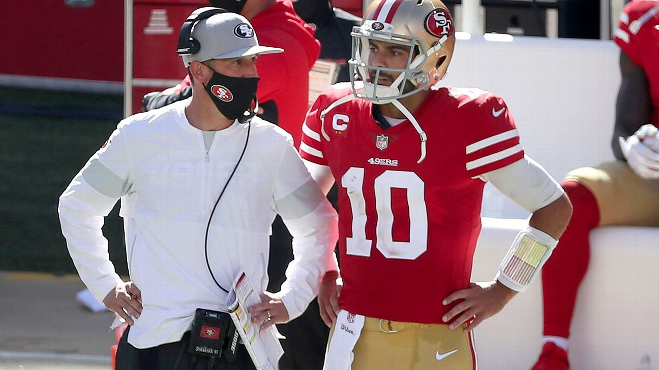 Niners didn't want to get 'left at altar' by staying at No. 12 believe Jimmy Garoppolo gives them best chance now – ESPN