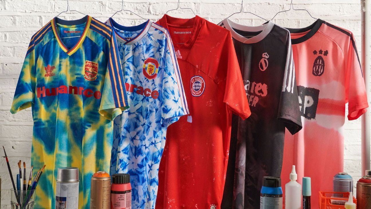 Man United, Arsenal, Juventus, Real, Bayern get Adidas kit makeover via Pharrell