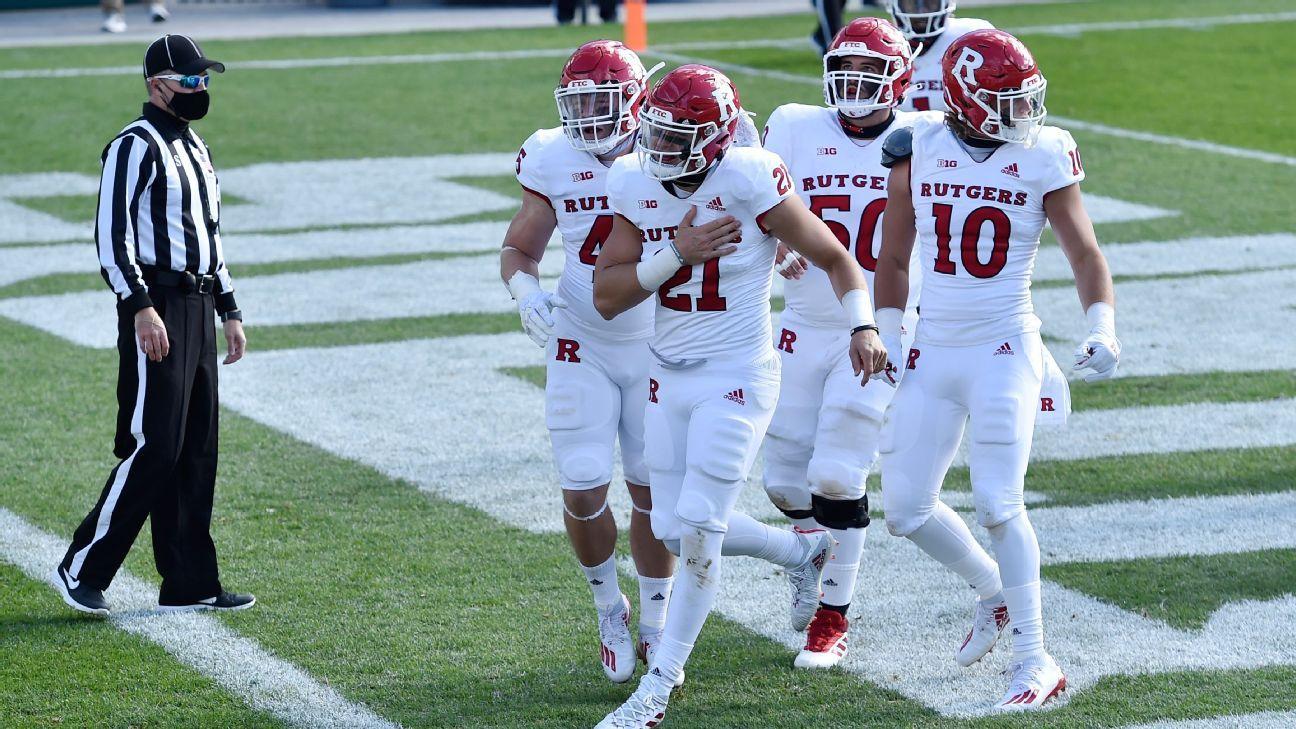 Rutgers beats Michigan State to end 21-game Big Ten football losing streak -