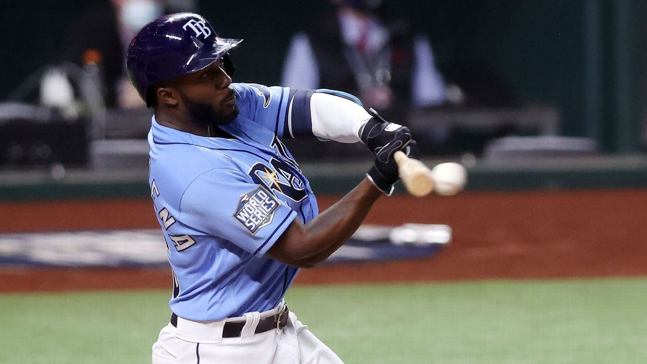 rays randy arozarena sets record for most hits in single postseason rays randy arozarena sets record for