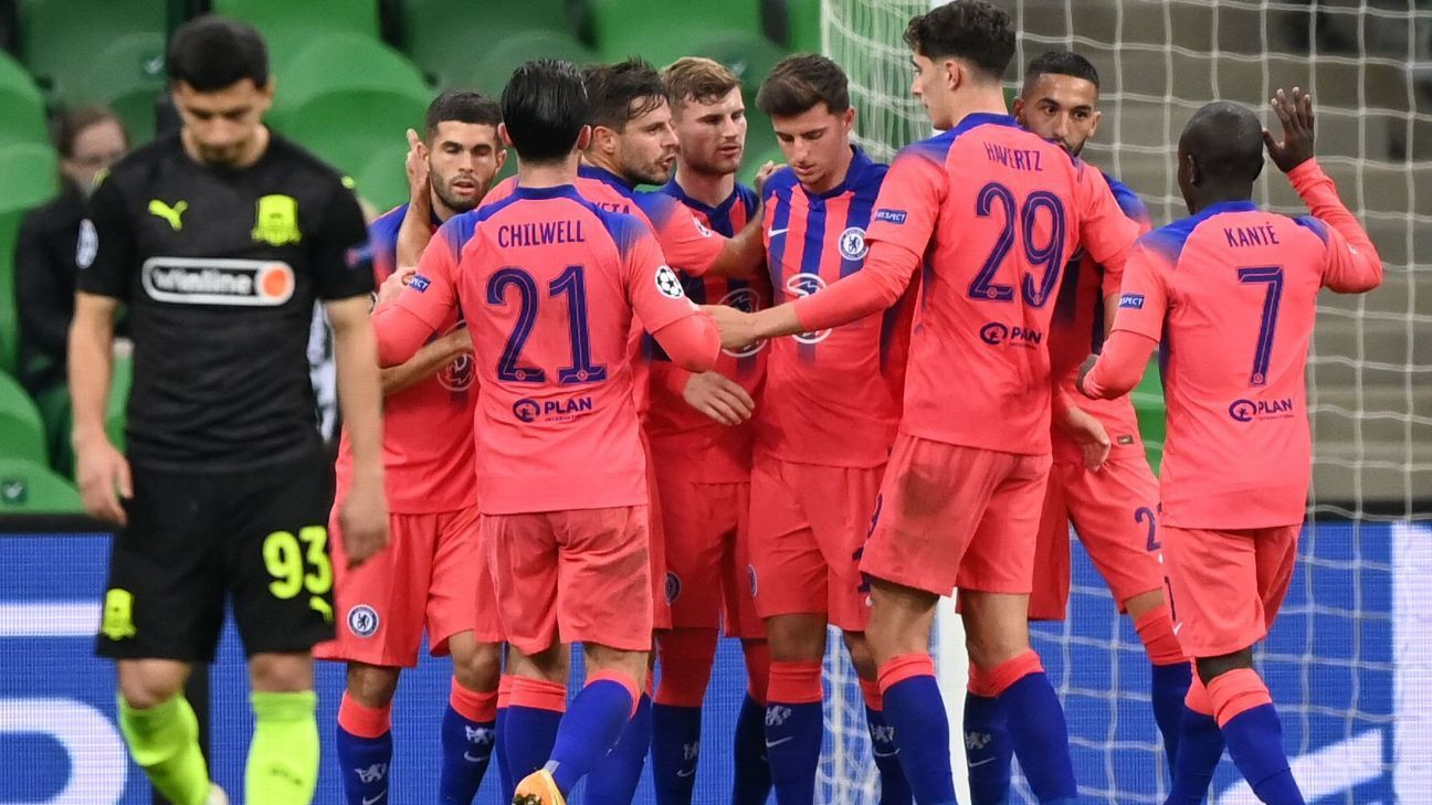 Krasnodar vs. Chelsea - Reporte del Partido - 28 octubre, 2020 - ESPN