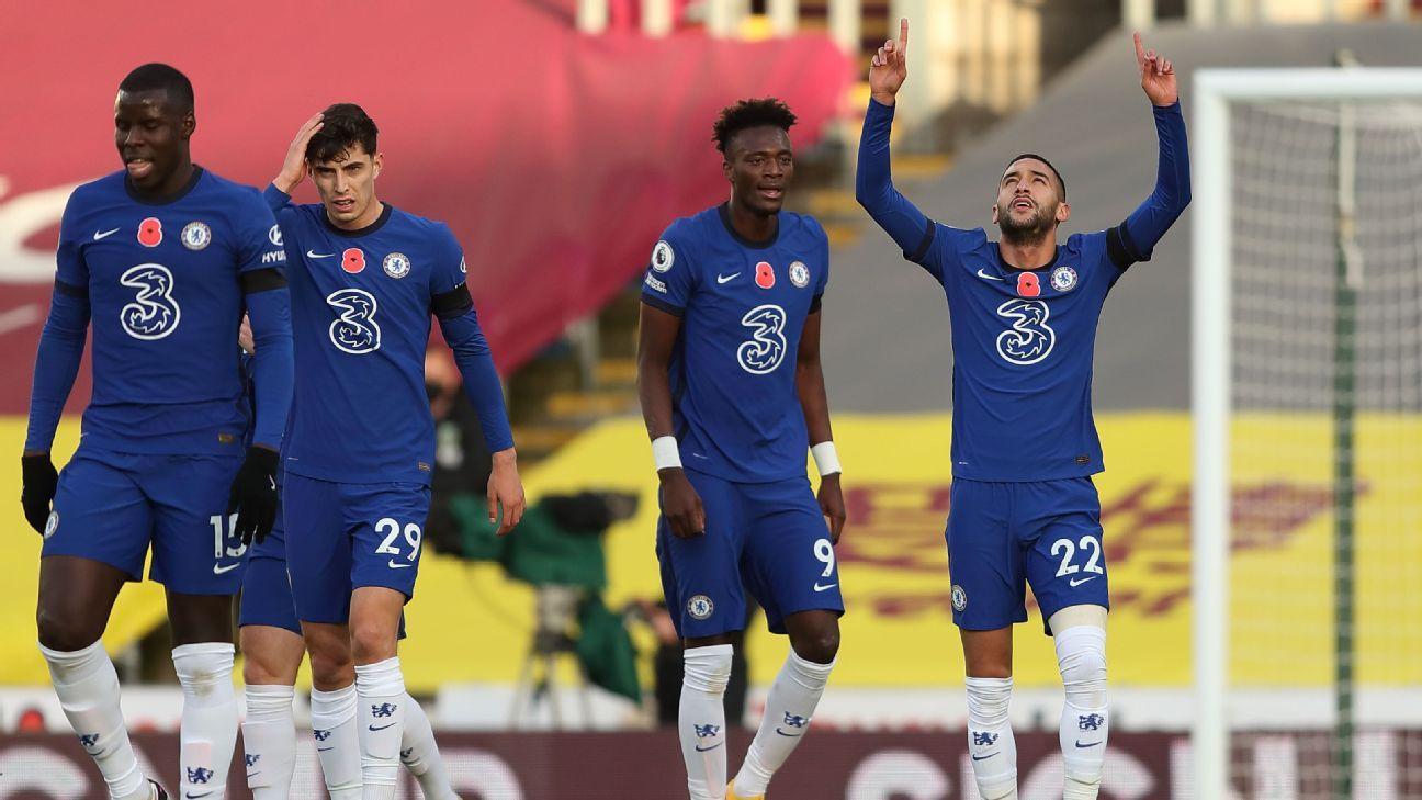Ziyech, Kante 9/10 as Chelsea complete convincing win