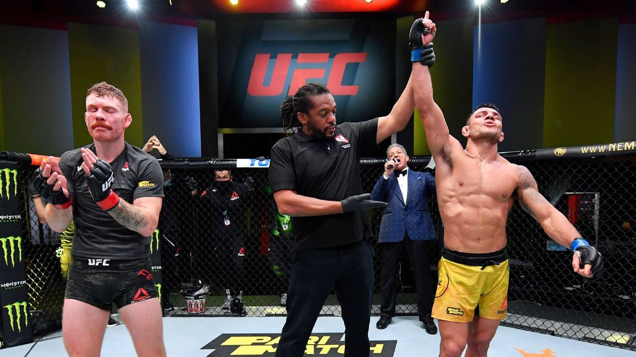 Rafael dos Anjos earns bloody decision win over Paul Felder at UFC Fight Night – ESPN