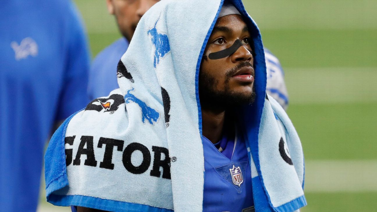 Detroit Lions RB D'Andre Swift to miss second straight game with concussion