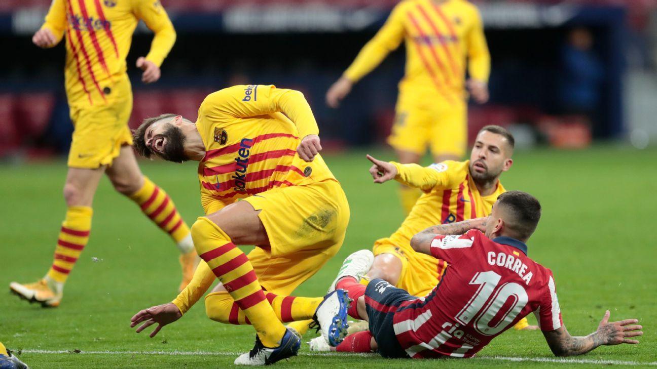 Pique knee injury leaves Barcelona in defensive woe ahead of Champions  League